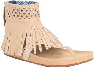 Dingo Fringed Leather Thong Sandals - Heat Wave