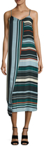 Veda Rowe Silk Stripe Midi Dress