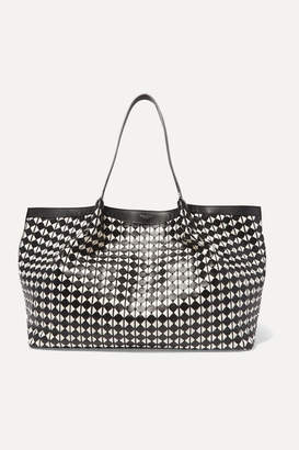 Serapian - Mosaico Woven Leather Tote - Black