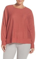 Eileen Fisher Plus Size Women's Tencel Lyocell Blend Ballet Neck Top
