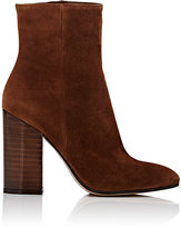 Gianvito Rossi Women's Lacquered-Heel Ankle Boots-BROWN