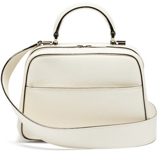 Valextra Serie S Small Grained-leather Bag - White