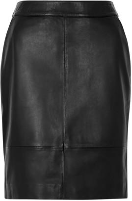 Gestuz Char Black Leather Mini Skirt