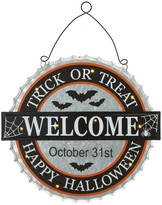 """Thumbnail for your product : Glitzhome 14"""" L Lighted Halloween Metal Bottle Cap Wall Sign"""