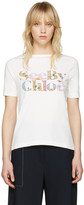 See by Chloe Off-White Logo T-Shirt
