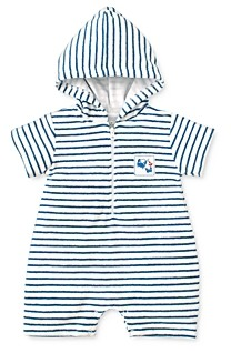 Kissy Kissy Boys' Striped Terry Romper - Baby