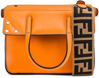 Fendi Mini Flip Crossbody Bag in Orange | FWRD