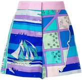 Emilio Pucci high-waisted printed shorts