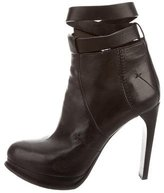 CNC Costume National Leather Platform Ankle Boots