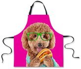 Showudesigns Funny Housewife Dog Printed Checf Kitchen Cooking Aprons for Men Women Sleeveless with Adjustable Neck Strap