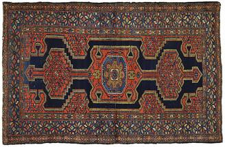 "One Kings Lane Vintage Antique Persian Hamadan Rug,4'4"" x 6'6"" - Esmaili Rugs & Antiques - navy/red/multi"