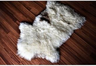 """Buenrostro Animal Print Handmade 2' x 3'5"""" Sheepskin Beige/Brown Indoor / Outdoor Area Rug Millwood Pines"""
