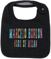 Marcelo Burlon County Of Milan Kids logo print bib