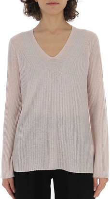 Vince Ribbed Knit V-Neck Jumper