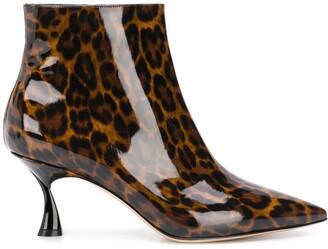 Casadei Leopard Print Boots