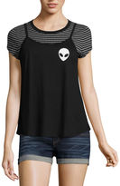 Hybrid Tees Alien Graphic Tank with T-Shirt