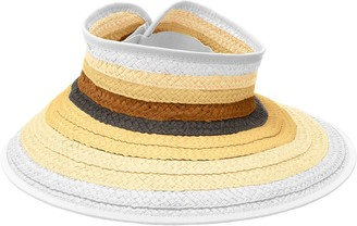 San Diego Hat Company Women's Adjustable Packable Roll Up Visor