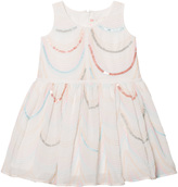 Billieblush White Organza Sequin and Embroidered Dress