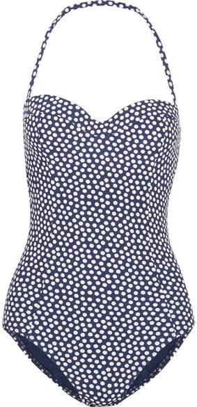 Tory Burch Polka-dot Swimsuit - Navy