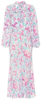 Rixo Amel floral silk dress