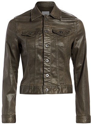 AG Jeans Robyn Leatherette Trucker Jacket