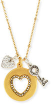 Sequin Golden Two-Tone Talisman Necklace