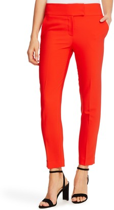 CeCe Twill Straight Leg Trousers