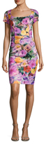Alexia Admor Floral Print Cap Sleeve Sheath Dress
