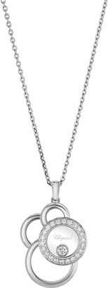 Chopard Happy Dreams Semi Pave Diamond Pendant Necklace
