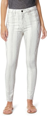 Joe's Jeans The Hi Honey Snakeskin Print High Waist Crop Skinny Jeans