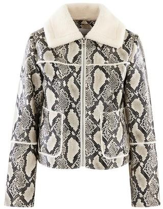 Stand Python print jacket