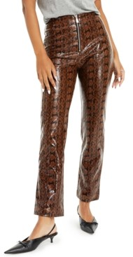Danielle Bernstein Faux-Snakeskin Pants, Created for Macy's