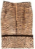 Valentino Pony Hair Pencil Skirt