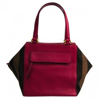 Fendi Burgundy Leather Handbags