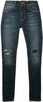 Nudie Jeans ripped skinny jeans - men - Organic Cotton/Spandex/Elastane - 27