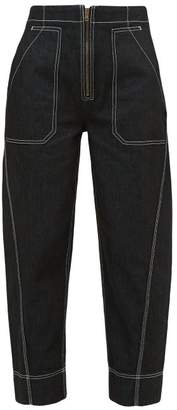 Ssōne Ssone - Garden High-rise Organic Cotton-blend Jeans - Womens - Black