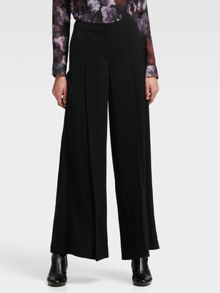 DKNY Dotted Pinstripe Wide-leg Pant