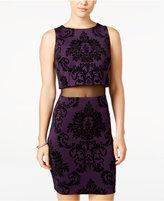 B. Darlin Juniors' Velvet-Print Popover Bodycon Dress