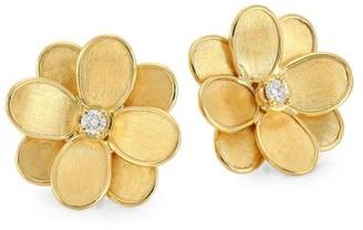 Marco Bicego Petali 18K Yellow Gold & Diamond Flower Stud Earrings