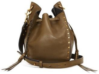Isabel Marant Radja Studded Leather Cross-body Bag - Womens - Khaki