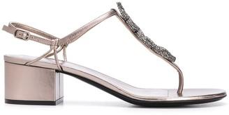 Valentino Snake block-heel sandals