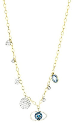 Meira T 14K Yellow Gold, Diamond & Multi-Stone Eye Pendant Necklace