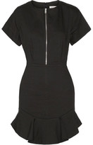 Etoile Isabel Marant Neit Ruffled Stretch-twill Mini Dress - Black