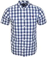 Fred Perry Tartan Gingham Mix Shirt Blue