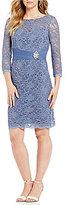 Cachet Lace Sheath Dress