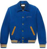 Saint Laurent Embroidered Cotton-Corduroy Bomber Jacket
