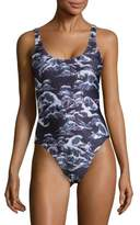 We Are Handsome One-Piece Floral Swimsuit