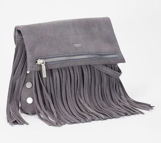 Hammitt Foldover Leather Crossbody with Fringe - VIP