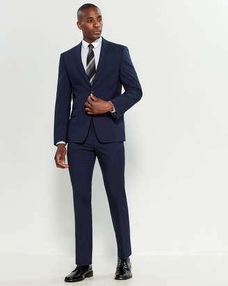 DKNY Two-Piece Blue Glen Check Suit