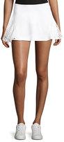 Michi Deuce Mesh-Panel Tennis Skirt